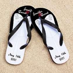 Personalized White Wedding Dress Beacher Sandal