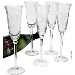 Bridal Party Etched Flute