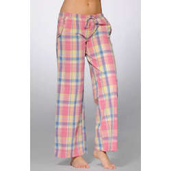Summer Evening Prep Seersucker Plaid PJ Pant