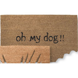 Oh My Dog Cut Out Doormat