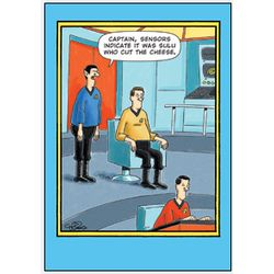 Sulu Cut Cheese Birthday Greeting Card