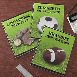 Boy's Personalized Sports Spiral Notebooks