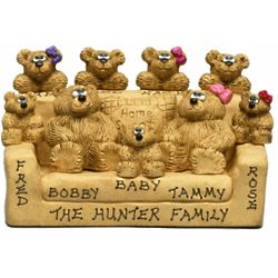 Customized Bear Figurine with Mom, Dad and Kids