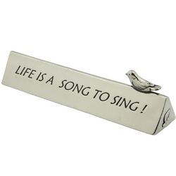 Double-Sided Bird Song Quote Plaque