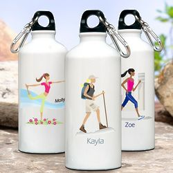 Personalized Go-Girl Aluminum Water Bottle