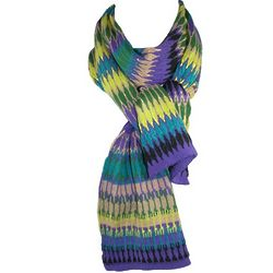 Brilliant Colors Patterned Scarf