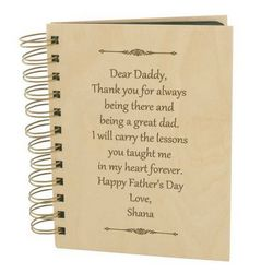 Letter to Dad Personalized Photo Album