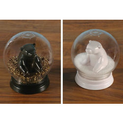 Snow Globe Bears Salt and Pepper Shakers