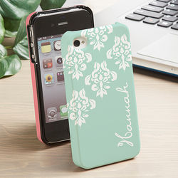 Damask Personalized iPhone 4 Cell Phone Case