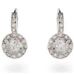 Ornate Silver Brilliant Cut Vintage Earrings