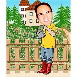 Your Photo in a Great Gardener Caricature