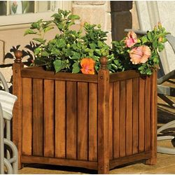 "Lexington 16"" Oil Wooden Planter"