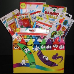 Art Supplies Gift Basket for Kids