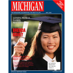 Personalized Graduate Magazine Cover Label