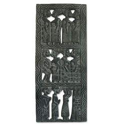 African Women Wood Relief Panel