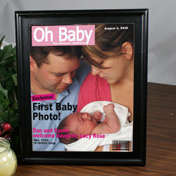 Personalized Baby Magazine Cover Frame