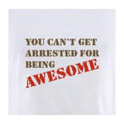 You Can't Get Arrested for Being Awesome T-Shirt