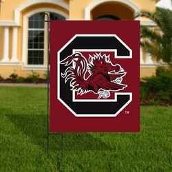 South Carolina Gamecocks Garnet Appliqué Garden Flag