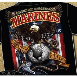 USMC Fighting Eagle Black T-Shirt
