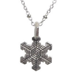 Snowflake Pendant on a Delicate Silver Chain