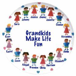 Personalized Grandma's Grandkids Platter
