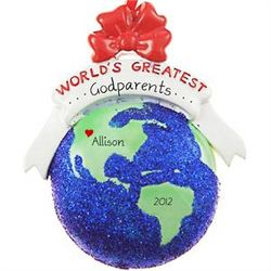 Personalized World's Greatest Godparents Ornament