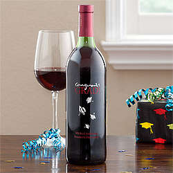 Personalized Graduation Cap Bottle of Wine