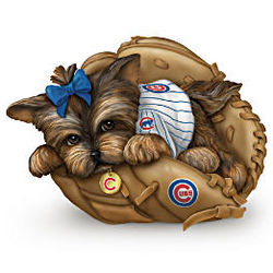 Fur-Ever a Fan Chicago Cubs Yorkie Figurine
