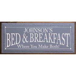Personalized Small Bed and Breakfast Plaque