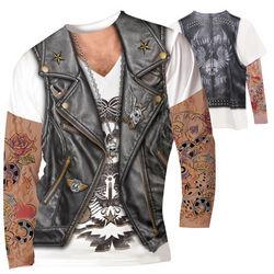 Men's Faux Tattoos Long-Sleeve Shirt