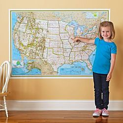 Repositionable United States Map