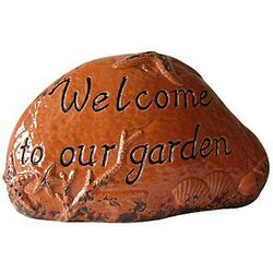 Welcome to Our Garden Orange Garden Stone