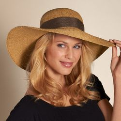 Woven Straw Tan Beach Hat