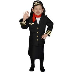 Flight Attendant Girl's Costume