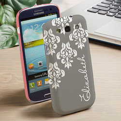 Damask Personalized Samsung Galaxy 3 Cell Phone Case