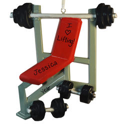 I Love Lifting Weight Bench Ornament