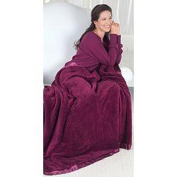 Plum Waffle Fleece Blanket