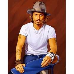 Johnny Depp Pop Art Print