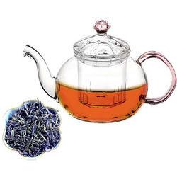 Glass Teapot and Juliet Jasmine Whole Leaf Green Tea