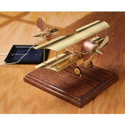 Solar Powered Desktop Biplane