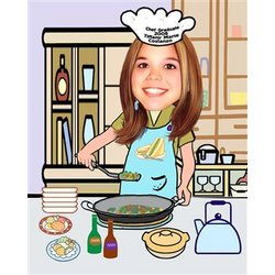 Your Photo in a Great Cook Caricature