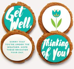 8 Get Well Message Cookies Gift Box
