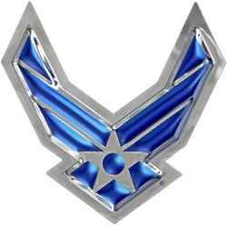 USAF Winged Logo Chrome Wall Art