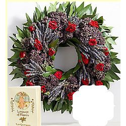Herbal Sentiments Wreath with Language of Flowers Book