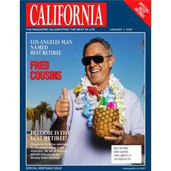 Personalized Retiree Magazine Cover Label