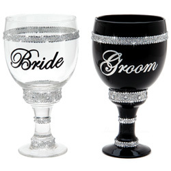 Bride and Groom Pimp Cups