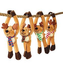 Doorknob Plush Long Arm Reindeer