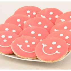 Baby Girl Smiley Cookies