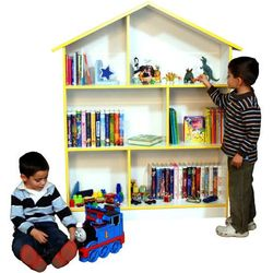 White and Yellow Doll House Book Case