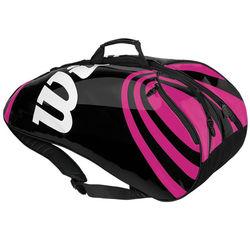 BLX Tour Black/Pink Blade Six Pack Tennis Bag